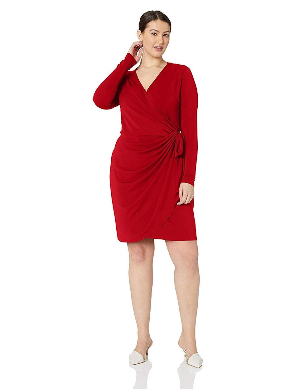 "<br><br><strong>Lark & Ro</strong> Plus Size Classic Long Sleeve Wrap Dress, $, available at <a href=""https://amzn.to/3iv2eoa"" rel=""nofollow noopener"" target=""_blank"" data-ylk=""slk:Amazon"" class=""link rapid-noclick-resp"">Amazon</a>"