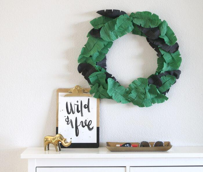 "<p>Nothing says summer like tropical foliage, and this smart-looking wreath will warm up any front door or wall space. The banana ""leaves"" are actually made from crepe paper, which give the project a beautiful texture. </p><p><strong>Get the tutorial at <a href=""https://persialou.com/crepe-paper-banana-leaf-wreath/"" rel=""nofollow noopener"" target=""_blank"" data-ylk=""slk:Persia Lou"" class=""link rapid-noclick-resp"">Persia Lou</a>.</strong></p><p><a class=""link rapid-noclick-resp"" href=""https://www.amazon.com/Lia-Griffith-10-7-Square-Assorted-LG11018/dp/B01JYSL3OA/ref=as_li_ss_tl?tag=syn-yahoo-20&ascsubtag=%5Bartid%7C10050.g.4395%5Bsrc%7Cyahoo-us"" rel=""nofollow noopener"" target=""_blank"" data-ylk=""slk:SHOP CREPE PAPER"">SHOP CREPE PAPER</a><br></p>"