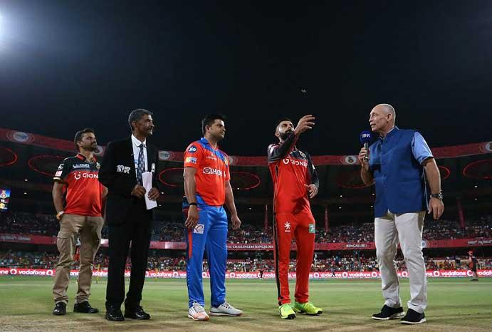 IPL-10: Gujarat Lions opt to field against Royal Challengers Bangalore