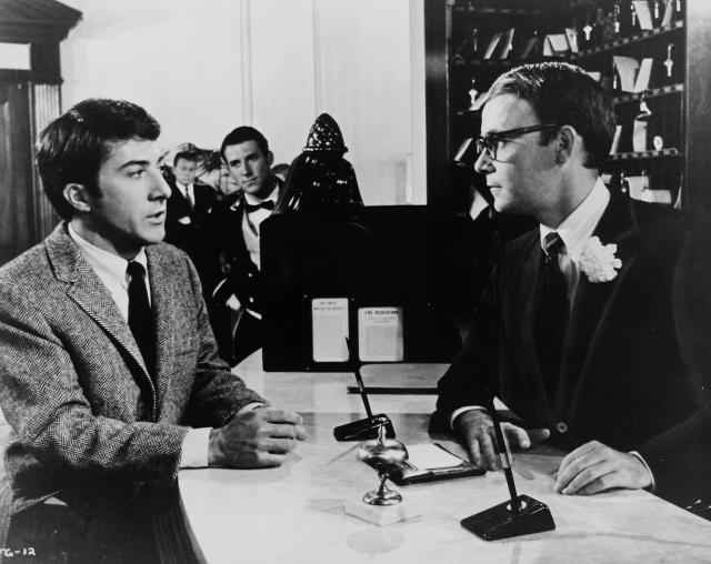 Dustin Hoffman and Buck Henry in The Graduate (Credit: RDB via Getty Images)