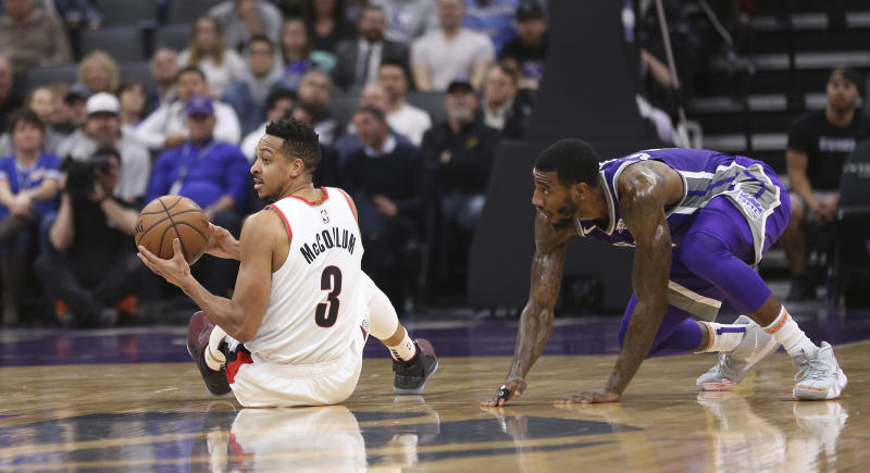 Kings G Shumpert prevented from entering Blazers' lockerroom