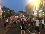 <p>In Bristol, fans poured onto the streets to celebrate the dramatic win. (Picture: SWNS) </p>