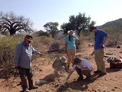 Researchers investigate in Africa (University of Rochester)