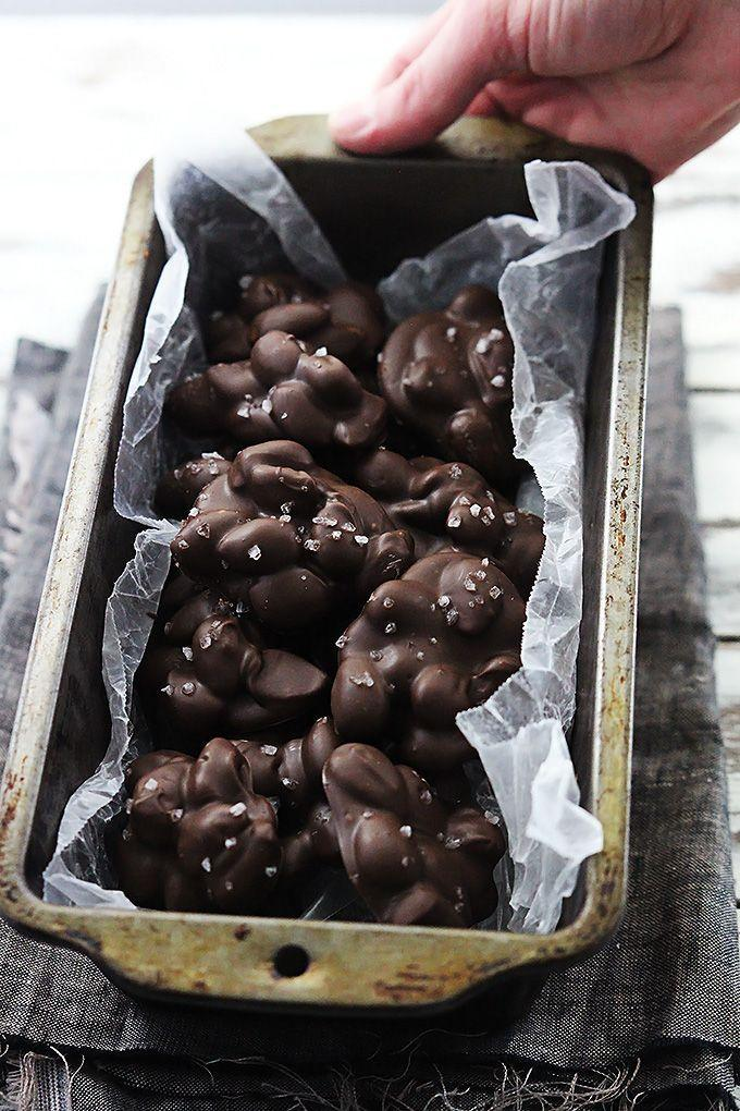 """<p>The best part of this three-ingredient recipe is that you can make it all in a microwave! Sprinkle some coarse sea salt on top for an deliciously salty combination.</p><p><strong>Get the recipe at <a href=""""https://www.lecremedelacrumb.com/3-ingredient-chocolate-almond-clusters/"""" rel=""""nofollow noopener"""" target=""""_blank"""" data-ylk=""""slk:Creme de la Crumb"""" class=""""link rapid-noclick-resp"""">Creme de la Crumb</a>.</strong> </p>"""