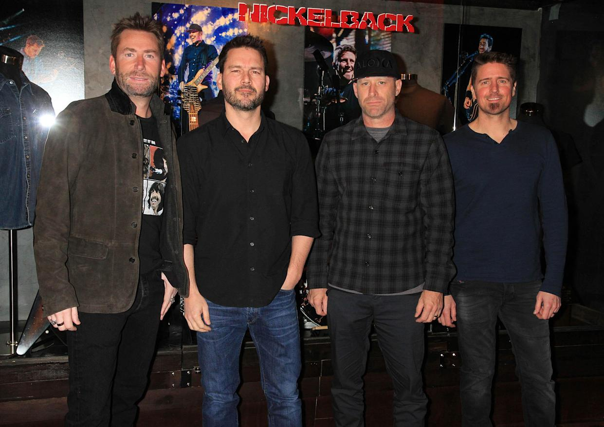 Photo by: Raoul Gatchalian/STAR MAX/IPx 2017 2/22/18 NICKELBACK unveils exclusive memorabilia case at Hard Rock Hotel & Casino.
