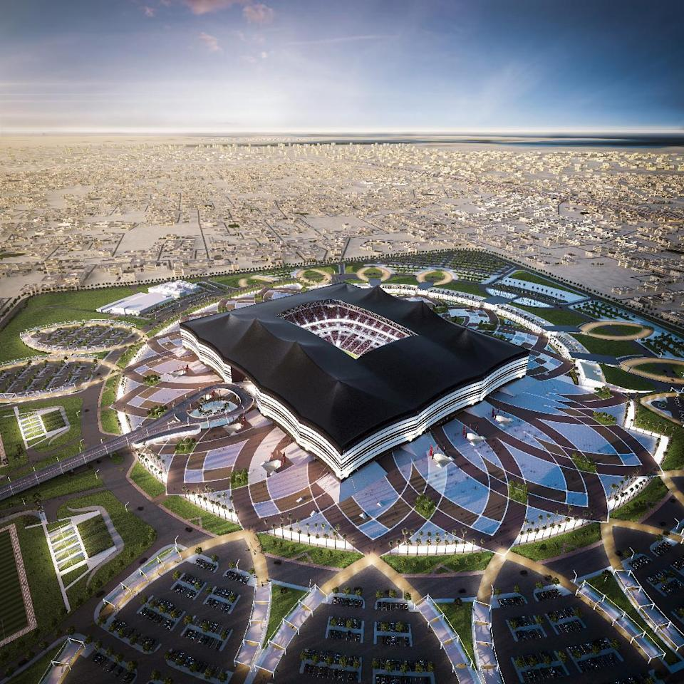 A computer generated image showing the stadium to be built in Al-Khor for the Qatar's 2022 World Cup (AFP Photo/-)