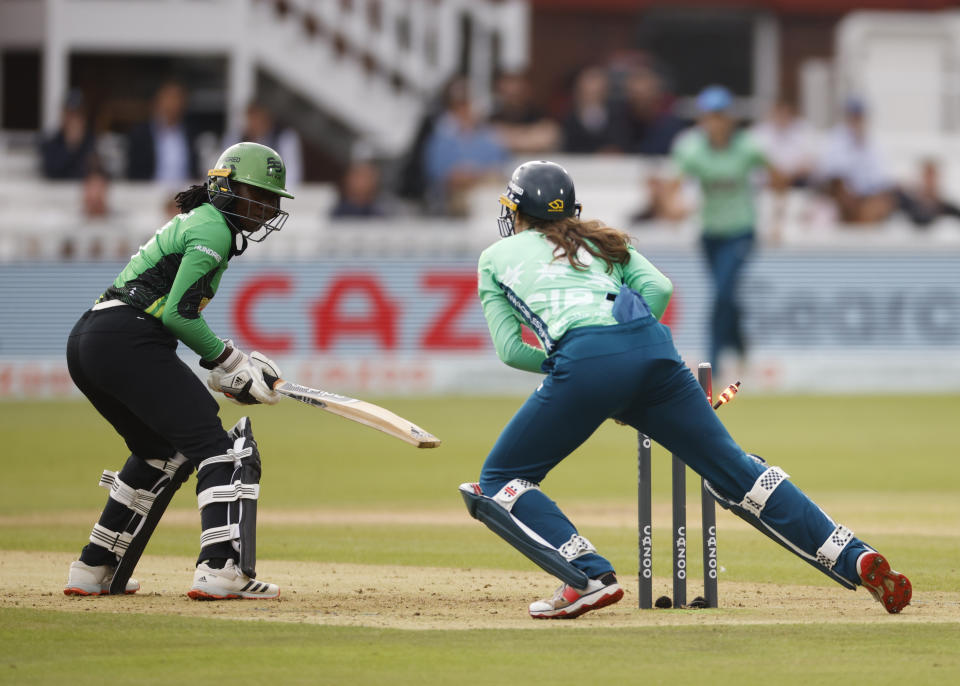 Anya Shrubsole was one of eight batters to post scores in single figures for the Brave