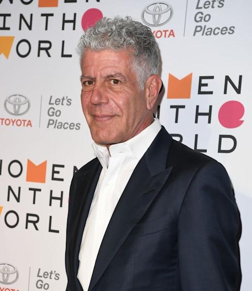 Anthony Bourdain in April 2018