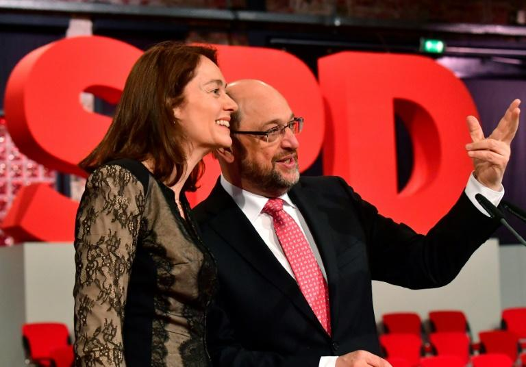 Martin Schulz, seen here with SPD secretary general Katarina Barley, has quickly become something of a social media phenomenon, inspiring a raft of affectionate hashtags among fired-up fans