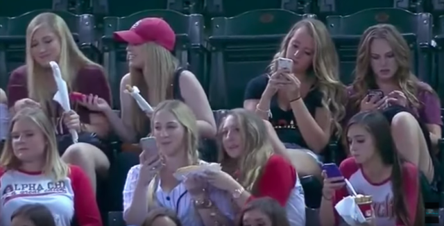 If you didn't get a photo were you even there. Source: Youtube / MLB Baseball