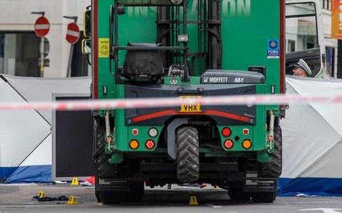 Evidence markers beneath a lorry at the scene of an accident at Holborn - Credit: Rob Pinney/LNP
