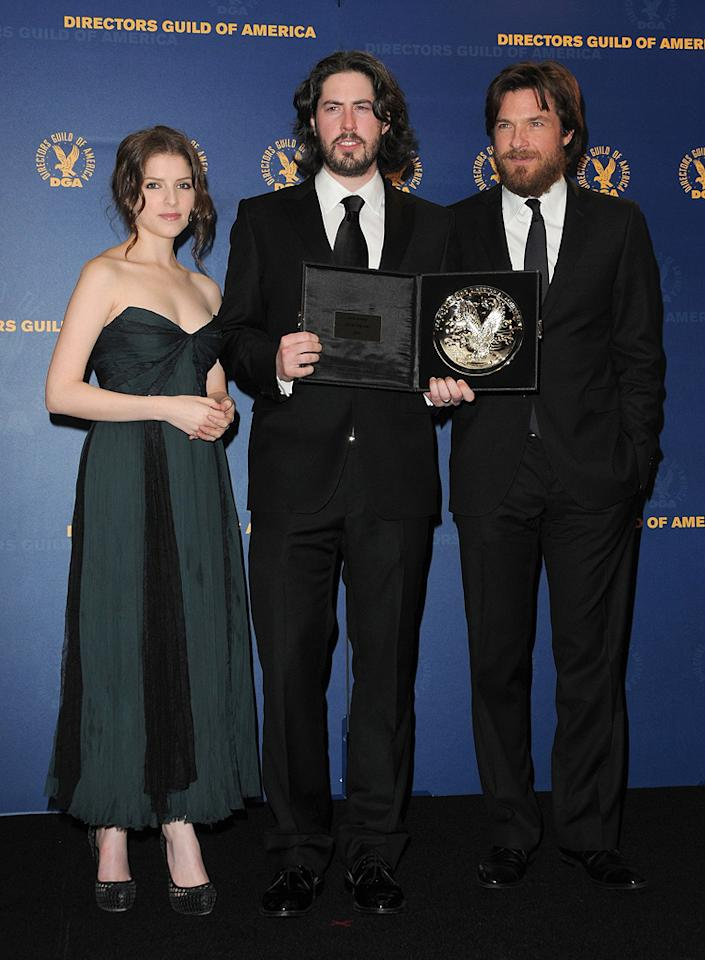"""<a href=""""http://movies.yahoo.com/movie/contributor/1808458984"""">Anna Kendrick</a>, <a href=""""http://movies.yahoo.com/movie/contributor/1804141701"""">Jason Reitman</a> and <a href=""""http://movies.yahoo.com/movie/contributor/1800019148"""">Jason Bateman</a> at the 62nd Annual Directors Guild of America Awards in Century City, California on January 30, 2010."""
