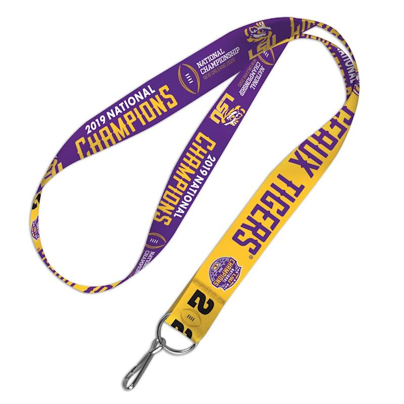 LSU College Football Playoff 2019 National Champions Lanyard
