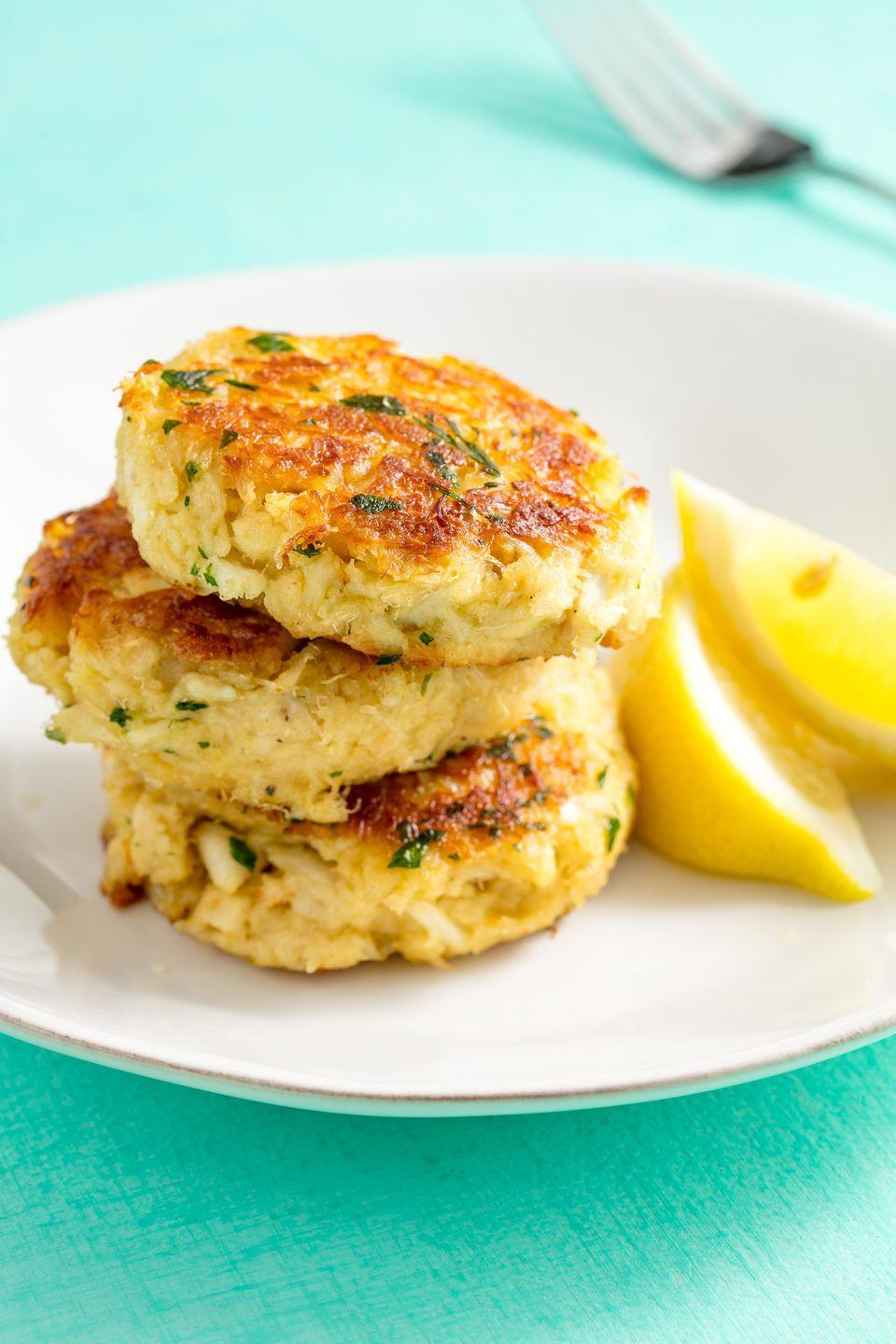 """<p>Feel like you've been transported to Maryland.</p><p>Get the recipe from <a href=""""https://www.delish.com/cooking/recipe-ideas/recipes/a58704/best-crab-cakes-recipe/"""" rel=""""nofollow noopener"""" target=""""_blank"""" data-ylk=""""slk:Delish"""" class=""""link rapid-noclick-resp"""">Delish</a>.</p>"""