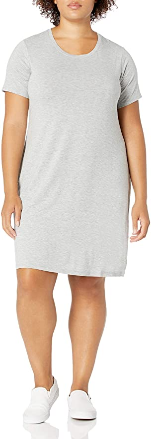 "<br><br><strong>Daily Ritual</strong> Plus Size Short-Sleeve Scoop Neck T-Shirt Dress, $, available at <a href=""https://amzn.to/3mkHfXp"" rel=""nofollow noopener"" target=""_blank"" data-ylk=""slk:Amazon"" class=""link rapid-noclick-resp"">Amazon</a>"