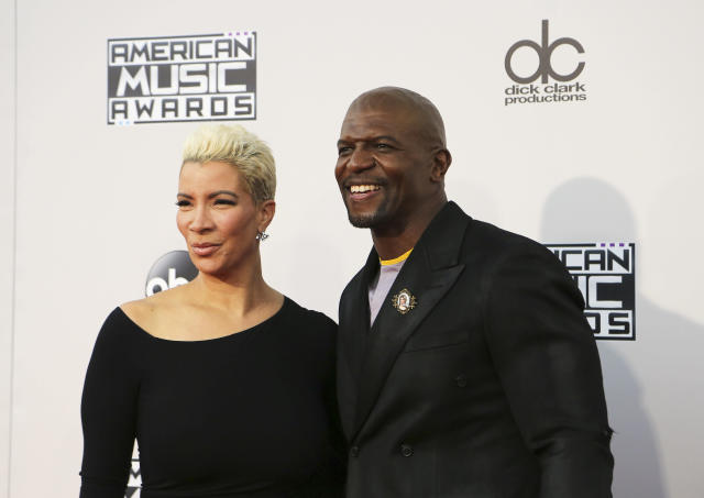 """""""Brooklyn Nine-Nine"""" actor Terry Crews credited his wife with helping him control himself in the moments after an alleged sexual assault. (David McNew / Reuters)"""