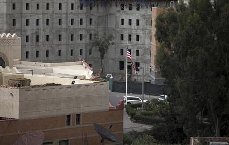 A general view of the U.S. Embassy compound in Sanaa