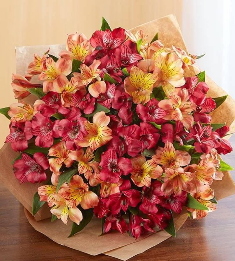 <p>The colors of these <span>Florists.com Fall Peruvian Lilies</span> ($39) are stunning.</p>