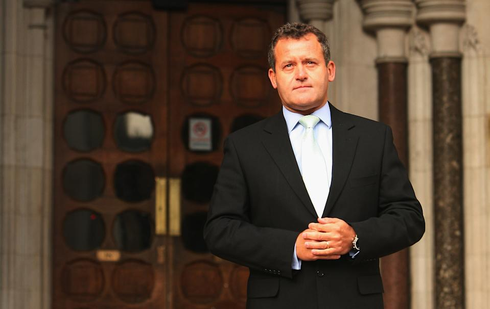 LONDON - JANUARY 14:  Paul Burrell, the former butler of Princess Diana, poses for the press outside the High Court on January 14, 2007 in London, England. Burrell is due to give evidence today at the Diana inquest.  (Photo by Daniel Berehulak/Getty Images)