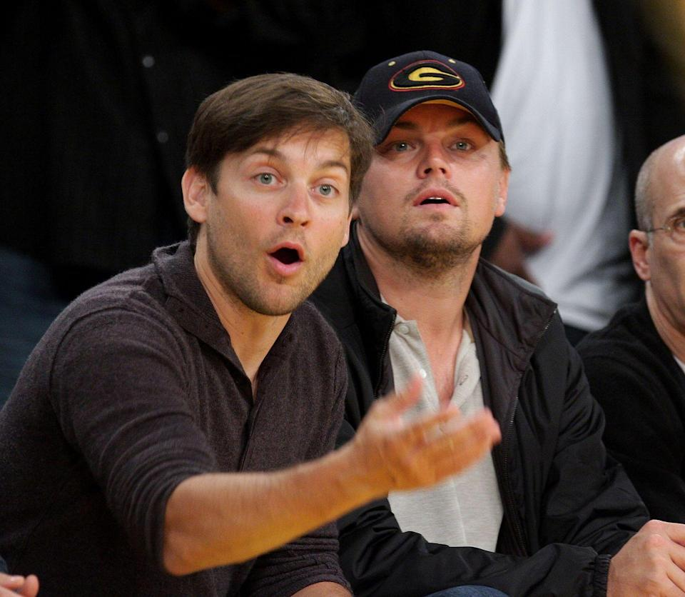 """<p>""""Leo and I have a lot of trust and respect for each other. We have a close friendship and I definitely have an affection for Leo."""" — Tobey Maguire, <em><a href=""""https://people.com/movies/tobey-maguire-and-leonardo-dicaprio-costar-in-the-great-gatsby/"""" rel=""""nofollow noopener"""" target=""""_blank"""" data-ylk=""""slk:People"""" class=""""link rapid-noclick-resp"""">People</a></em></p><p>""""Every project we do, we talk about. Every single choice I've made, I've talked to Tobey about and vice versa. We've had endless conversations about certain projects and argued with one another and supported one another along the way."""" — Leonardo DiCaprio, <em><a href=""""https://oklahoman.com/article/3808420/leo-and-tobey-finally-together-in-gatsby?"""" rel=""""nofollow noopener"""" target=""""_blank"""" data-ylk=""""slk:Associated Press"""" class=""""link rapid-noclick-resp"""">Associated Press</a></em></p>"""