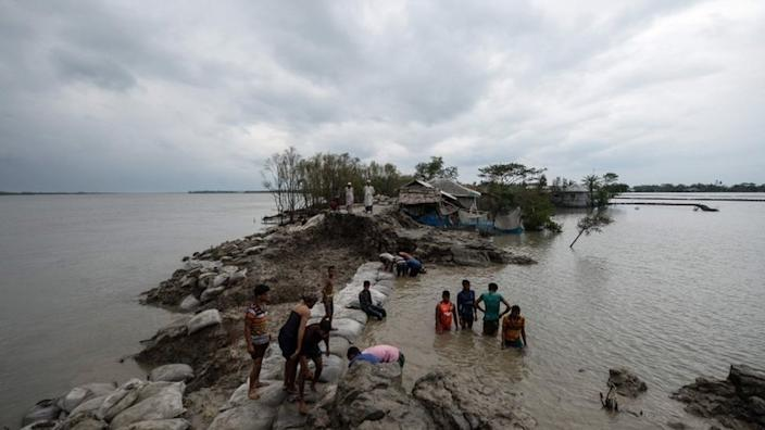Embankments have been washed away in Bangladesh