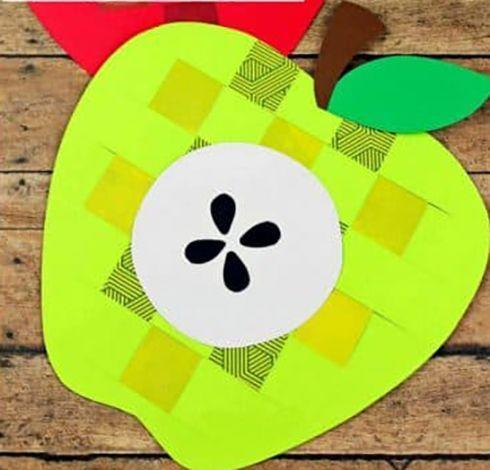 """<p>Little ones can personalize their own apple and work on their fine motor skills with this weaving craft. Use any patterned paper you have lying around to make different designs.</p><p><a href=""""https://buggyandbuddy.com/weaving-paper-apple-craft-for-kids/"""" rel=""""nofollow noopener"""" target=""""_blank"""" data-ylk=""""slk:Get the tutorial at Buggy and Buddy »"""" class=""""link rapid-noclick-resp""""><em>Get the tutorial at Buggy and Buddy »</em></a></p>"""