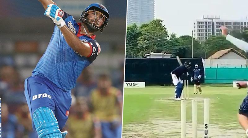 IPL 2020: Rishabh Pant Plays 'MS Dhoni Helicopter Shot' As Delhi Capitals Star Prepares for Upcoming Season in UAE (Watch Video)