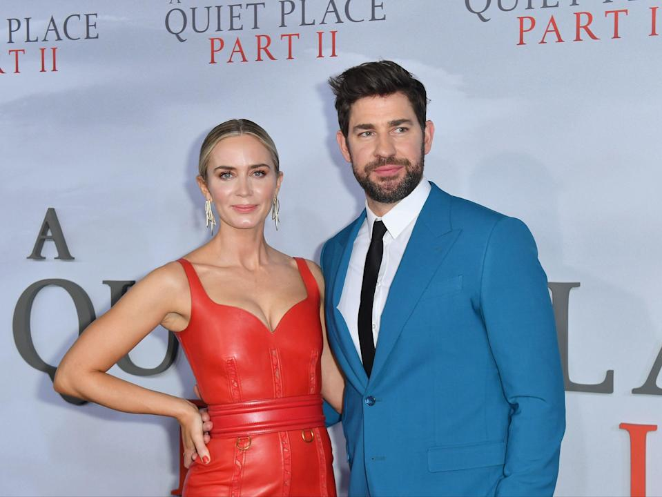 <p>Emily Blunt and John Krasinski at the premiere of A Quiet Place Part II on 8 March 2020 in New York City</p> (ANGELA WEISS/AFP via Getty Images)