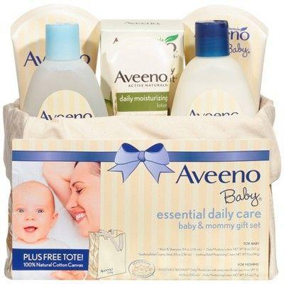 """<p><strong>Aveeno</strong></p><p>target.com</p><p><strong>$29.99</strong></p><p><a href=""""https://www.target.com/p/aveeno-baby-essentials-daily-care-gift-set/-/A-11480420"""" rel=""""nofollow noopener"""" target=""""_blank"""" data-ylk=""""slk:Shop Now"""" class=""""link rapid-noclick-resp"""">Shop Now</a></p><p>The products included in this gift set are so gentle, they can be used on babies, too. </p>"""