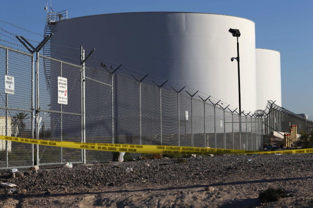 The fuel tanks were located within Paddock's firing line