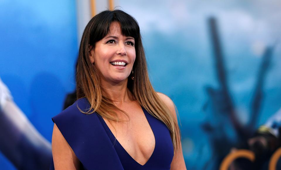 """Director of the movie Patty Jenkins poses at the premiere of """"Wonder Woman"""" in Los Angeles, California U.S., May 25, 2017.   REUTERS/Mario Anzuoni"""
