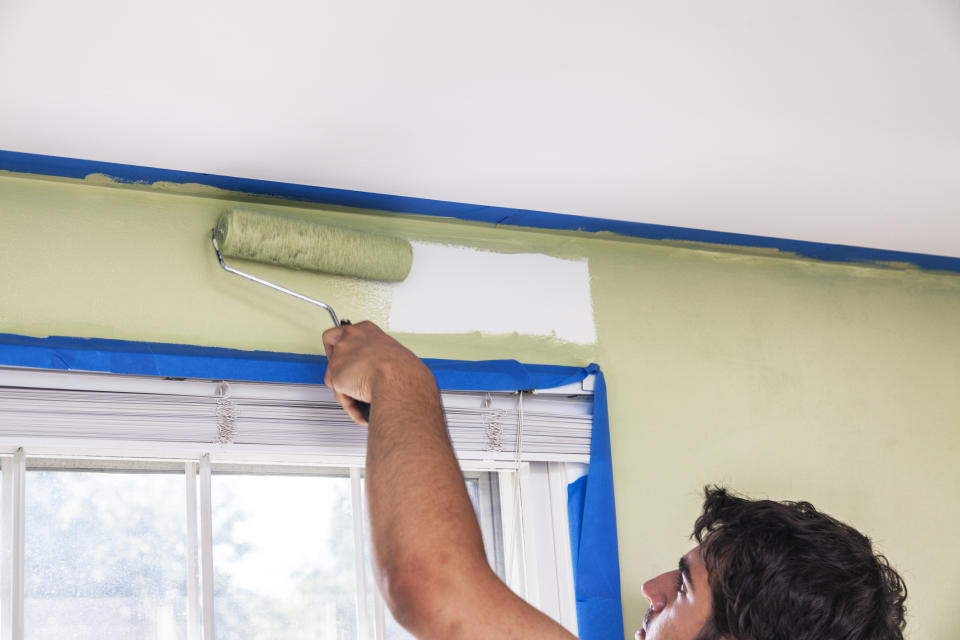 Using Frog tape to create strong paint lines was a DIY success, according to the test. (Getty Images)