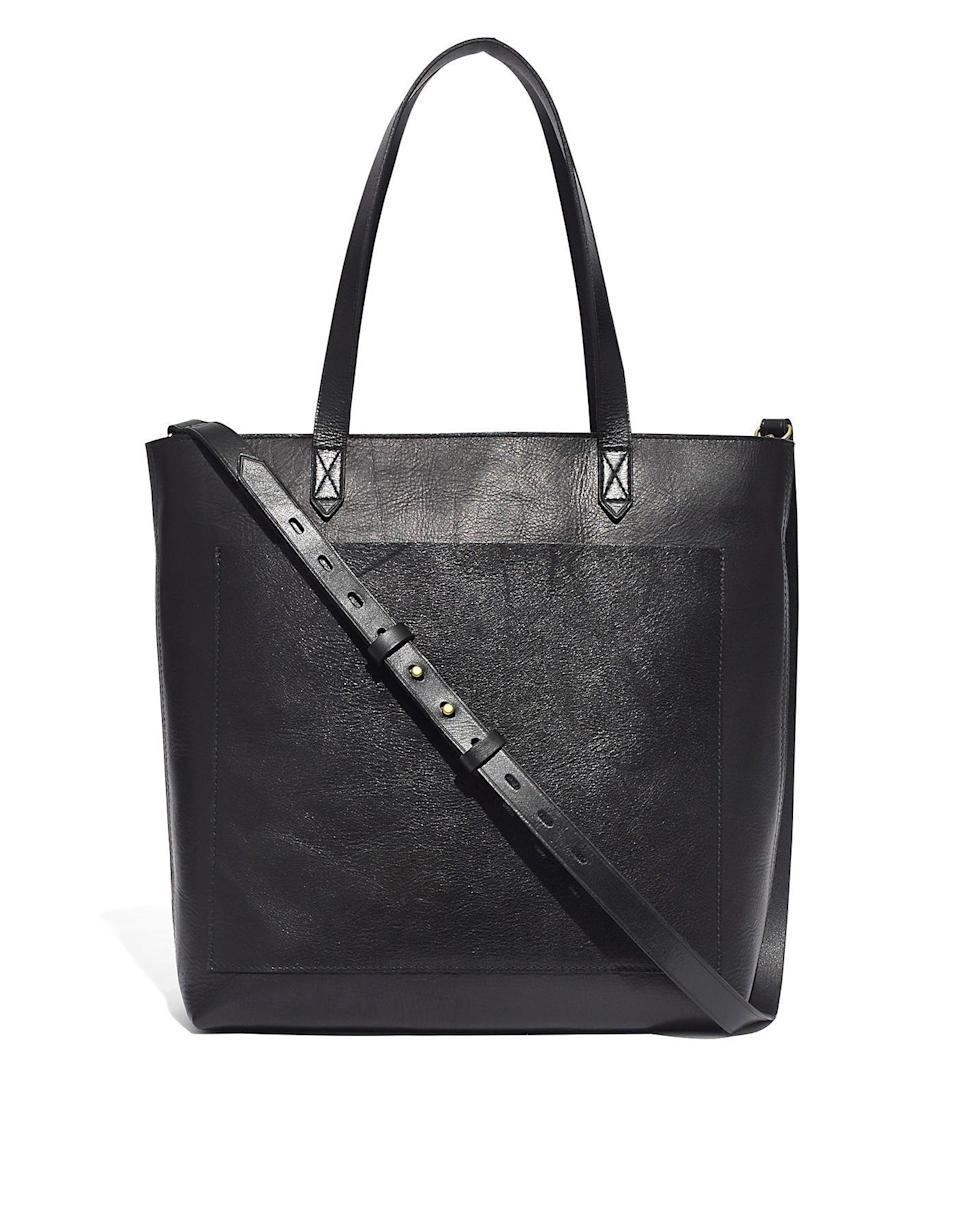 "Madewell leather <a href=""https://www.glamour.com/story/longchamp-le-pliage-tote-bag-review?mbid=synd_yahoo_rss"" rel=""nofollow noopener"" target=""_blank"" data-ylk=""slk:bags"" class=""link rapid-noclick-resp"">bags</a> manage to hit the trifecta of high-quality, affordable, and timeless. The brand is offering free economy and standard shipping for loyalty members, and all orders will be delivered within eight days. $178, Madewell. <a href=""https://www.madewell.com/the-zip-top-medium-transport-tote-AE189.html"" rel=""nofollow noopener"" target=""_blank"" data-ylk=""slk:Get it now!"" class=""link rapid-noclick-resp"">Get it now!</a>"