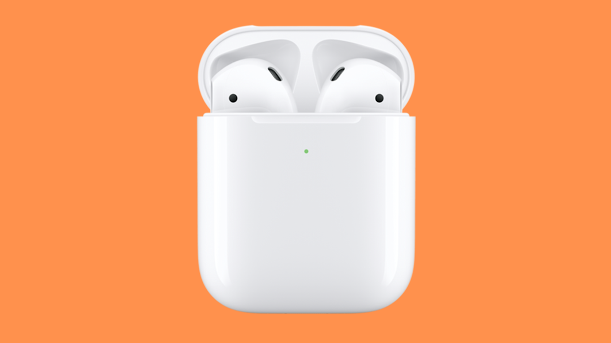 We rest our case...on a charging pad, and let our Apple AirPods quickly and wirelessly juice up. (Photo: Apple)