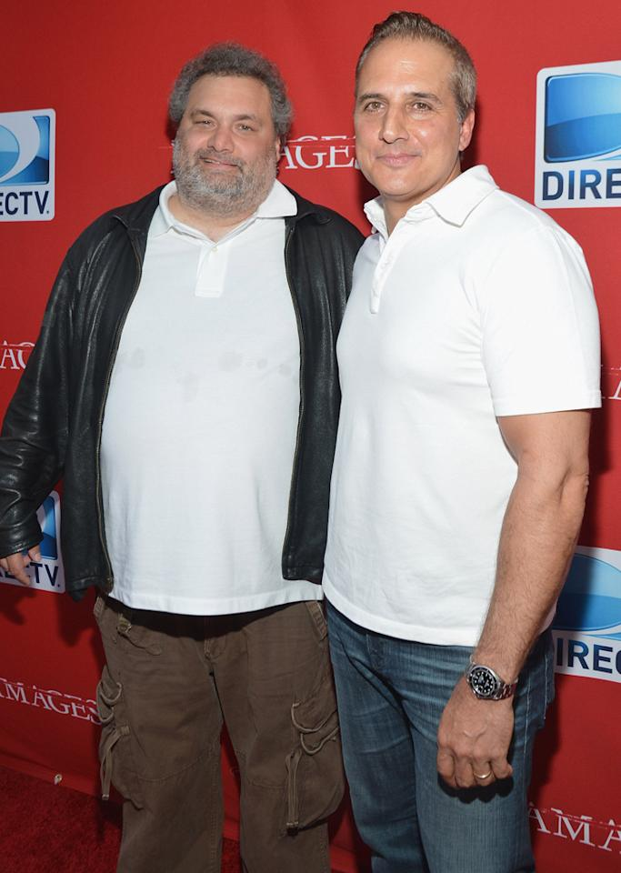 "Artie Lang and Nick DiPaolo of ""The Nick and Artie Show"" attend The DirecTV premiere for the fifth and final season of ""Damages"" at Paris Theater on June 28, 2012 in New York City."