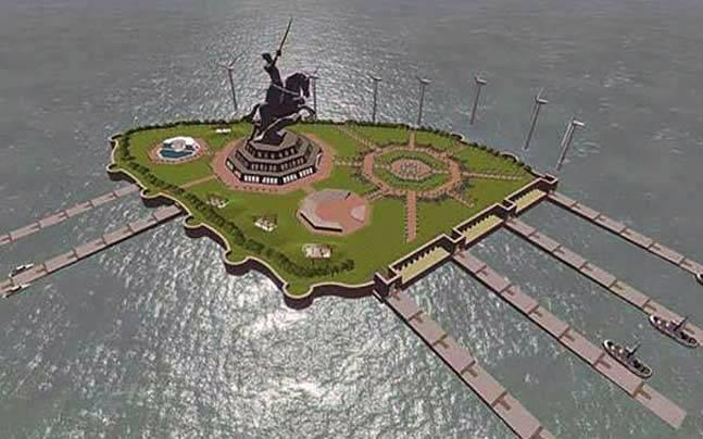 Maharashtra government spent Rs 8 crore for bhoomi pujan of Chhatrapati Shivaji memorial, say reports