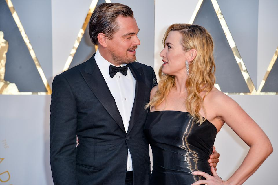 Leonardo DiCaprio and Kate Winslet arriving at the 88th Academy Awards Ceremony held at the Dolby Theatre in Hollywood, California on February 28, 2016. (Photo by Sthanlee B. Mirador)