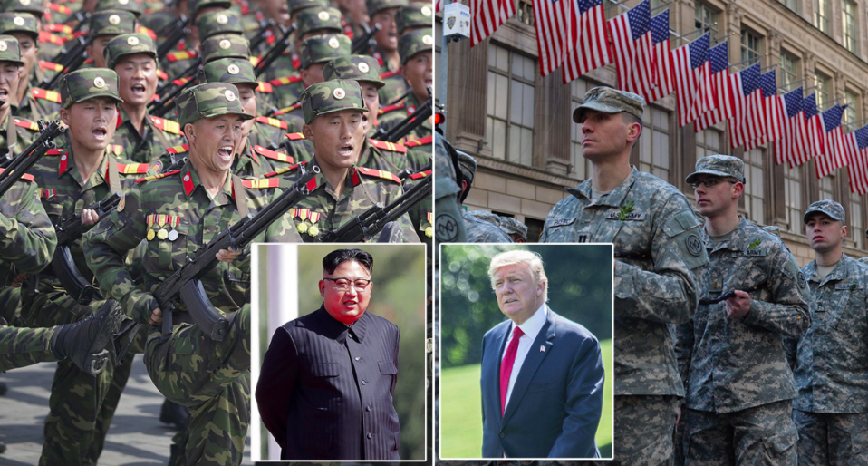 The military might of North Korea and the United states are vastly different (Rex)