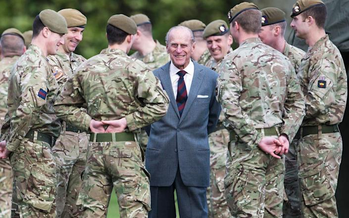 The Duke Of Edinburgh paid a visit to First Battalion Grenadier Guards, Aldershot in 2014 - Getty Images