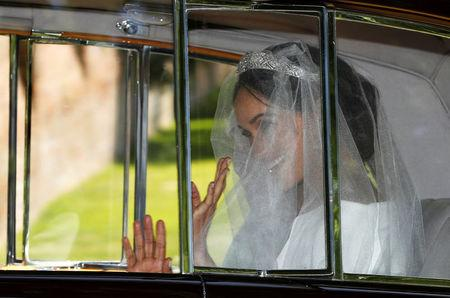 Meghan Markle departs for her wedding to Britain's Prince Harry, in Taplow,  Britain,