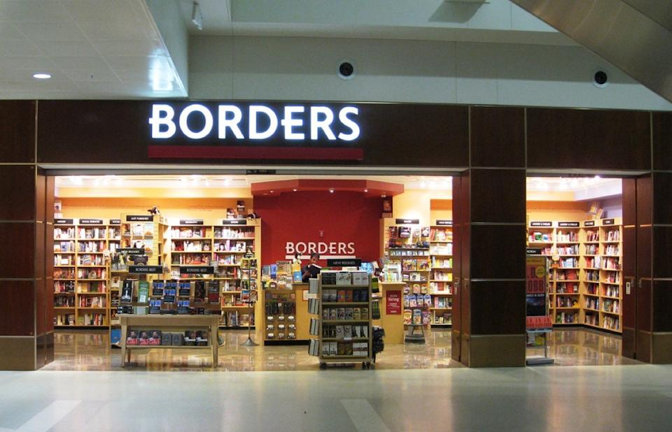 A Borders Bookstore In An Airport Stores From Childhood