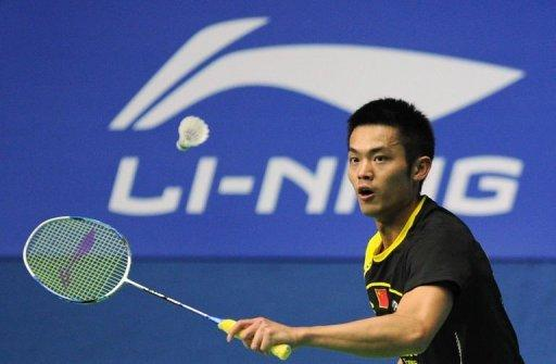Lin Dan of China hits a return to Wong Wing Ki of Hong Kong in their men's singles second round match at the China Open badminton tournament in Shanghai. Lin Dan delighted home fans as he made it back-to-back victories against arch-rival and number one seed Lee Chong Wei of Malaysia to reach the men's singles final at the China Open