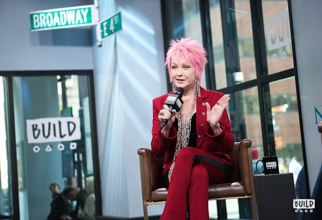 Cyndi Lauper visits Build Studio in New York on Nov. 9, 2017. (Photo by Mike Pont)