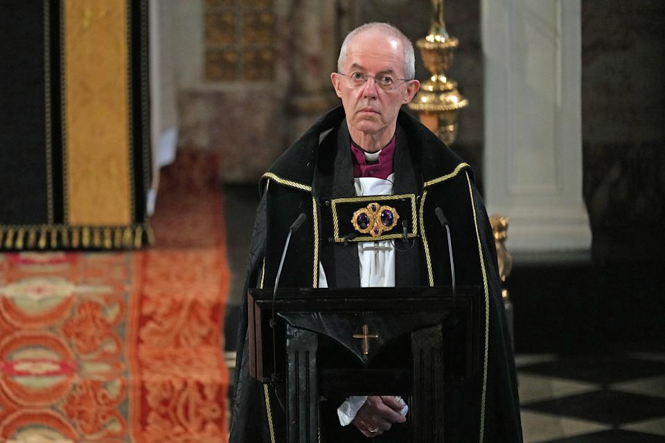 <p>The service was officiated by the Archbishop of Canterbury Justin Welby. (PA)</p>