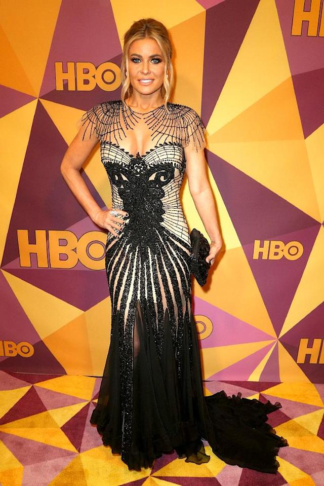 <p>Carmen Electra attends HBO's party at Circa 55 restaurant. (Photo: Frederick M. Brown/Getty Images) </p>