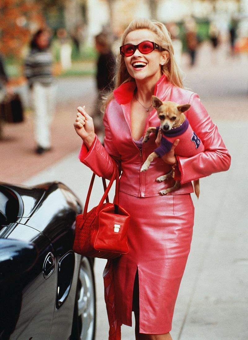 Playing Elle Woods in Legally Blonde catapulted Reese Witherspoon to international fame. (Photo: Tracy Bennett/Mgm/Kobal/Shutterstock)