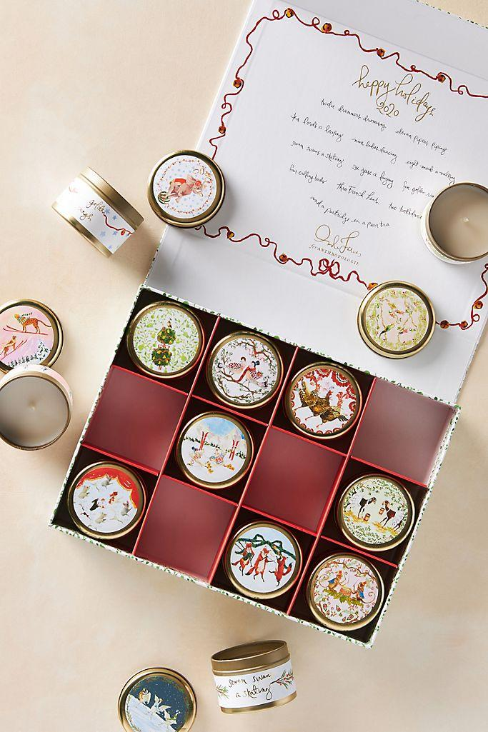 Inslee Fariss Twelve Days of Christmas Menagerie Candle Gift Set.