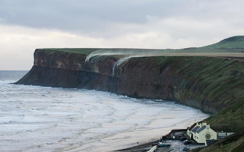 The two bodies were found by police and coastguards at Huntcliff, in Saltburn - ©under licence to London News Pictures. +44 (0)208 354 4272