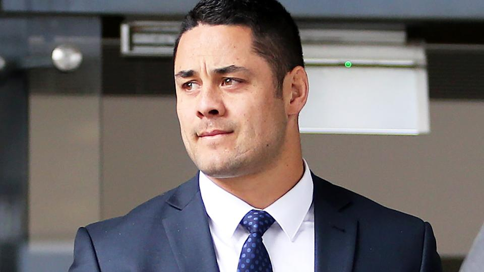 Jarryd Hayne, pictured here at Newcastle Local Court.