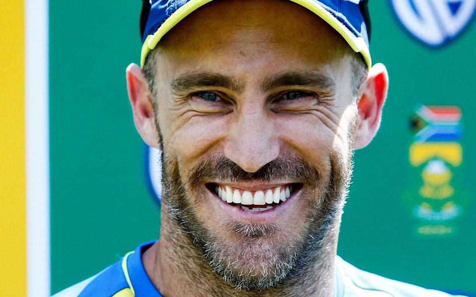 Faf du Plessis leads South Africa in the four-match Tests series against England for the Basil D'Oliveira Trophy - AFP